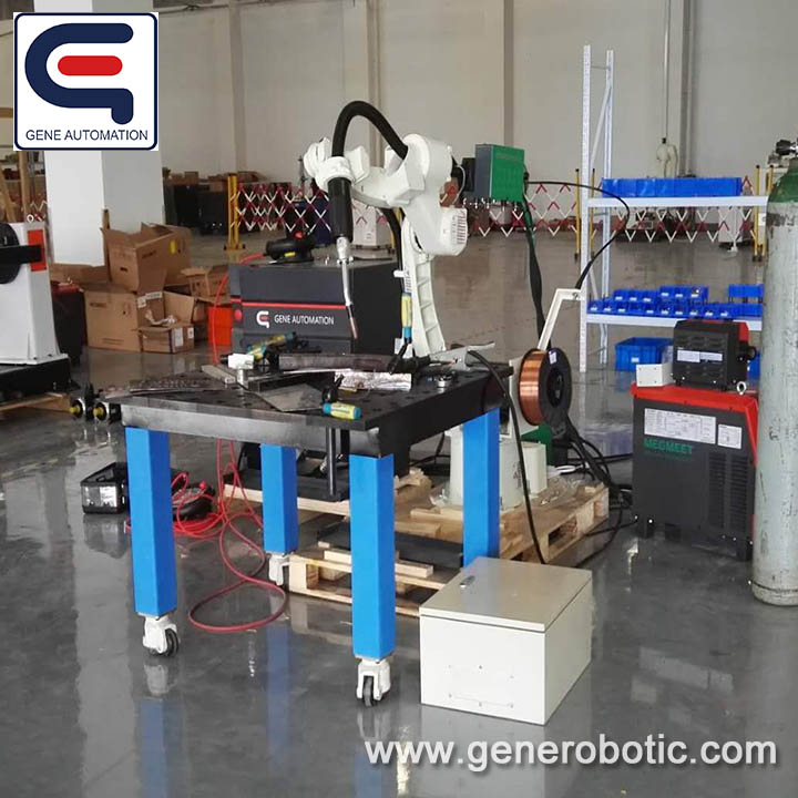 MIG ROBOT -GENE Automation Robot Arc welding system from China Kawasaki arc welding robot